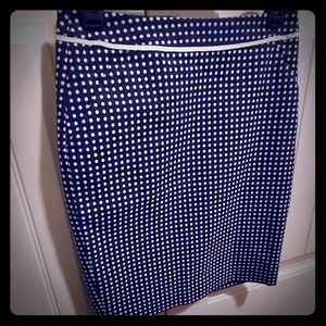 The Limited Navy polka dot pencil skirt size 0